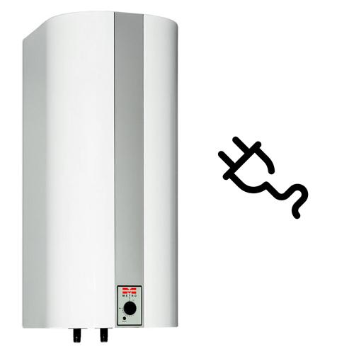 Utæt varmtvandsbeholder - Sluk for strømmen (EL-/Combivandvarmer)