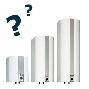 Hvilken størrelse varmtvandsbeholder
