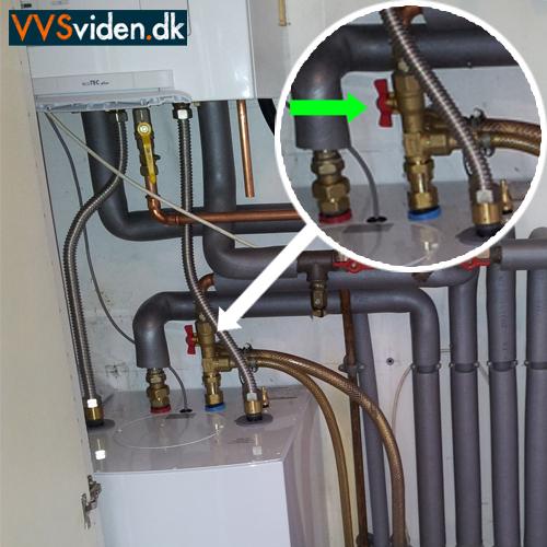 Luk for vandet til varmtvandsbeholder