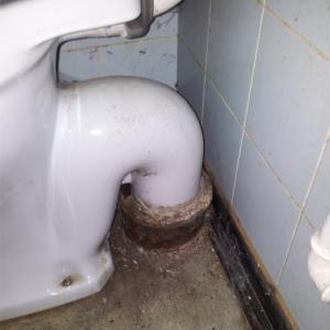 Toilet synlig S-lås