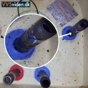 Utæt varmtvandsbeholder - Utæthed på rørstuds