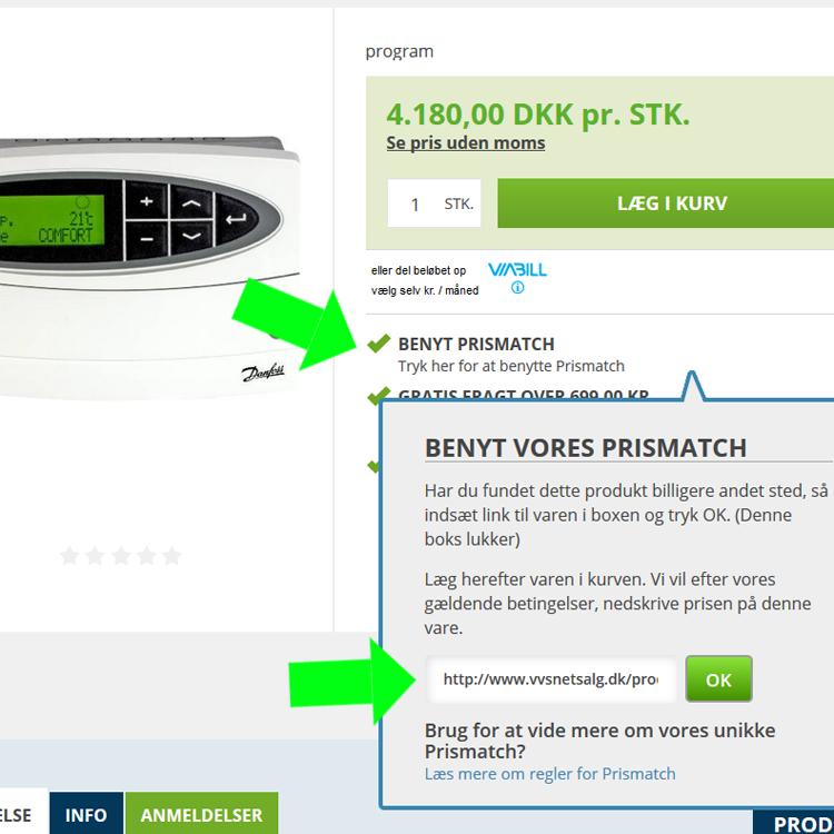 Billigste VVS- og El-artikler med prismatch