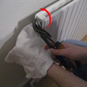 Udluftning af radiator