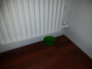 Utæt radiator begræns skaden