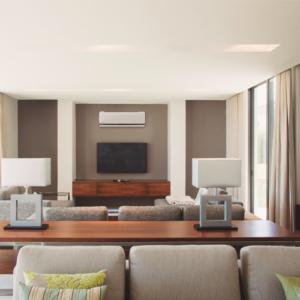Luft til luft varmepumpe i stue