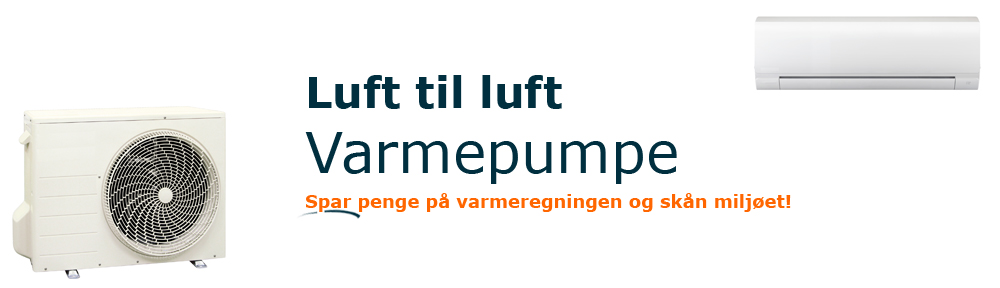 Luft til luft varmepumpe FEATURED