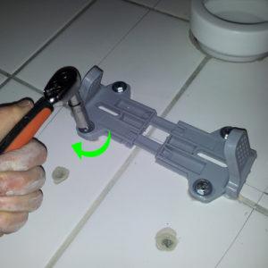 15 Montering af toilet på beslag