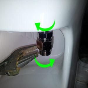 16 Montering af toilet på beslag