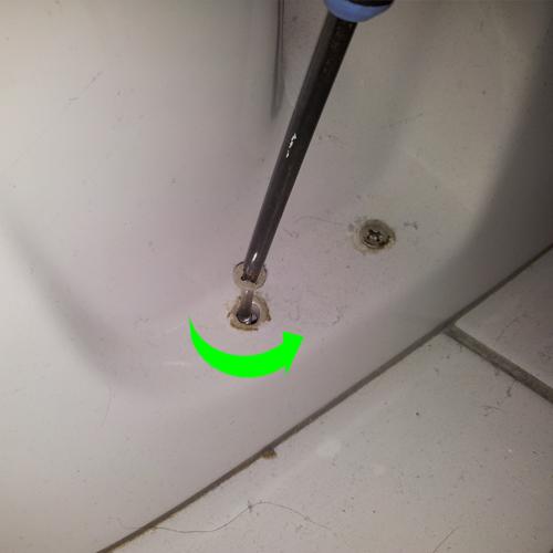 Afmontering af toilet